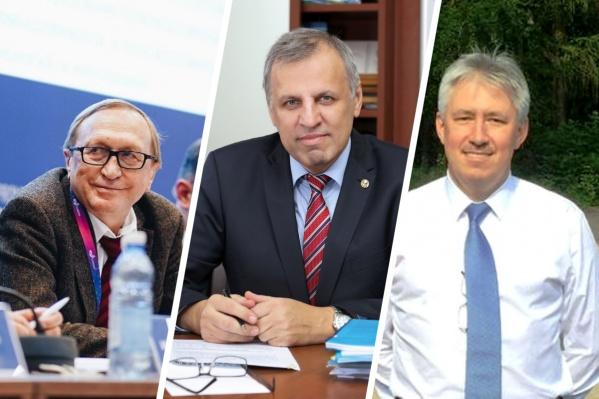 Слева направо: Сергей Гончаров, Валерий Бухтияров и Дмитрий Маркович<br>