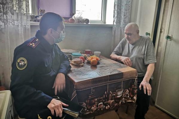 Следователь общается с ветераном