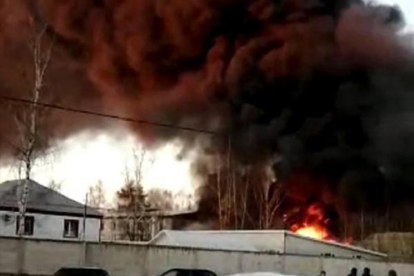 Пожар тушили 42 человека