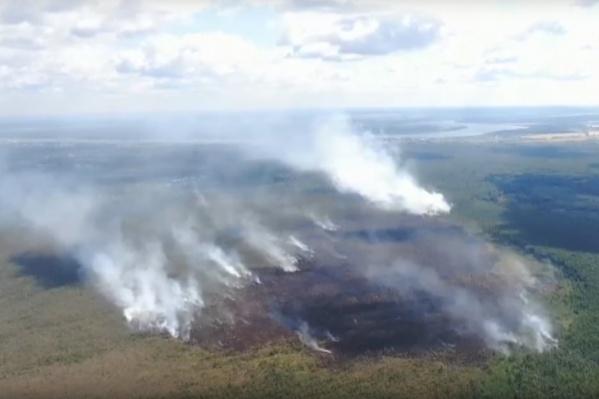 Так пожар выглядит с высоты