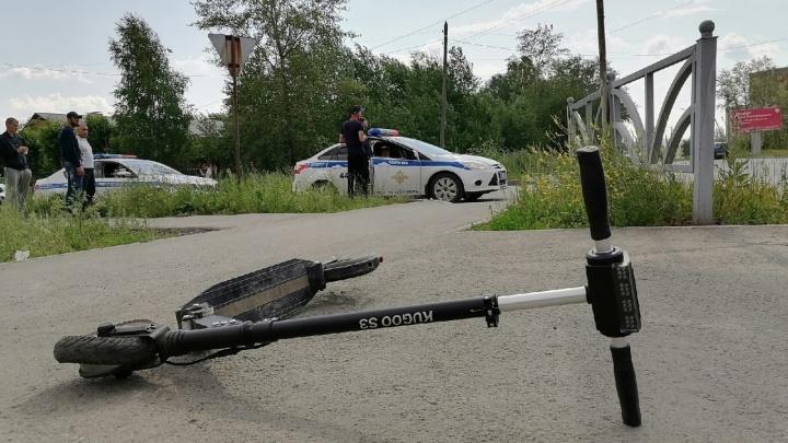 На Урале водитель Mitsubishi сбил 13-летнюю девочку на электросамокате