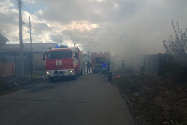 Пожар произошел в частном секторе поселка Кременкуль