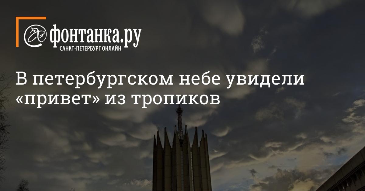 В петербургском небе увидели «привет» из тропиков (фото)