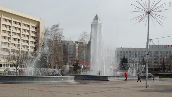 Опубликован график работы самого красивого фонтана Красноярска