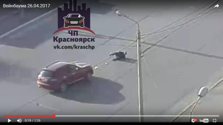 ВКрасноярске иностранная машина сбила переходящего дорогу непопереходу мужчину скофе