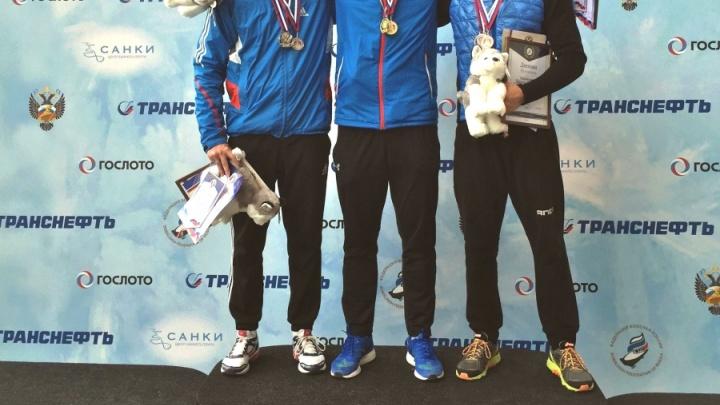 Красноярский скелетонист Никита Трегубов обошел олимпийца Третьякова и взял «золото» чемпионата России