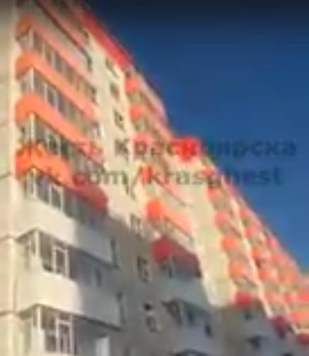 ВКрасноярске неадекватный мужчина умер, упав с8 этажа