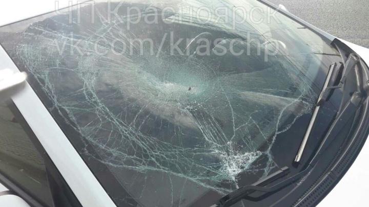 Неадекватный мужчина бросился крушить пропускавшую его на переходе по Красрабу машину