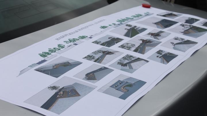 Представлен проект благоустройства набережной в Дивногорске с фотозоной и подзорными трубами