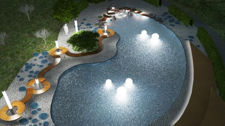 В парке 400-летия Красноярска решили создать пруд и водопад с подсветкой
