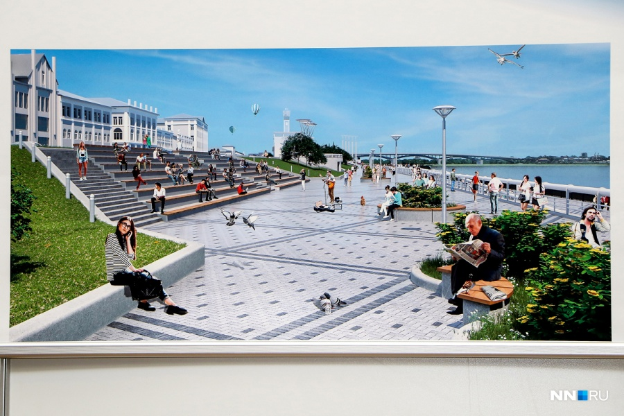 Проект Нижне-Волжской набережной вНижнем Новгороде вобщем одобрен