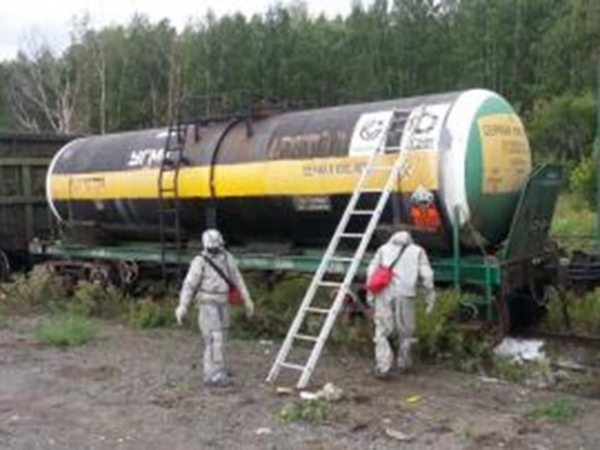 ВНижнем Новгороде обнаружили течь вцистерне ссерной кислотой