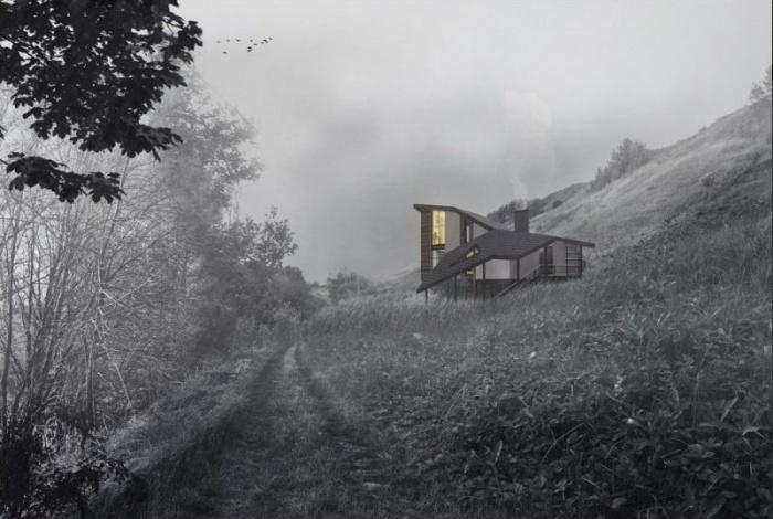 Дом спроектированный Зоей Рюриковой. Фото:Юрий Фольман