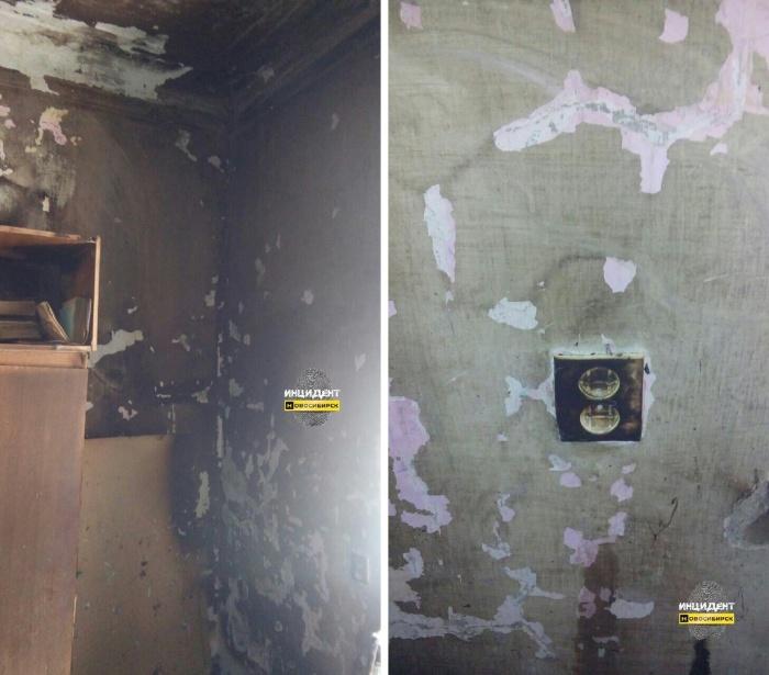 Квартира пенсионерки после пожара