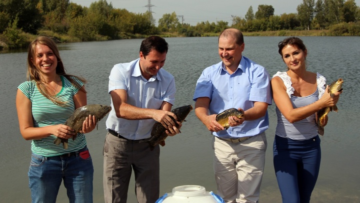 «Радуга Сибири»: озеро с карпами и беседки для отдыха в подарок жителям