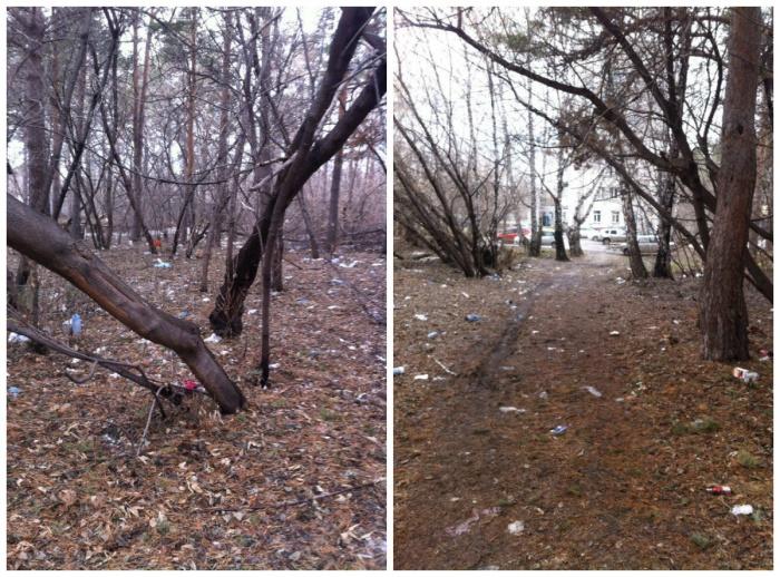 Фотографии захламленной территории сделали вчера, 18 апреля
