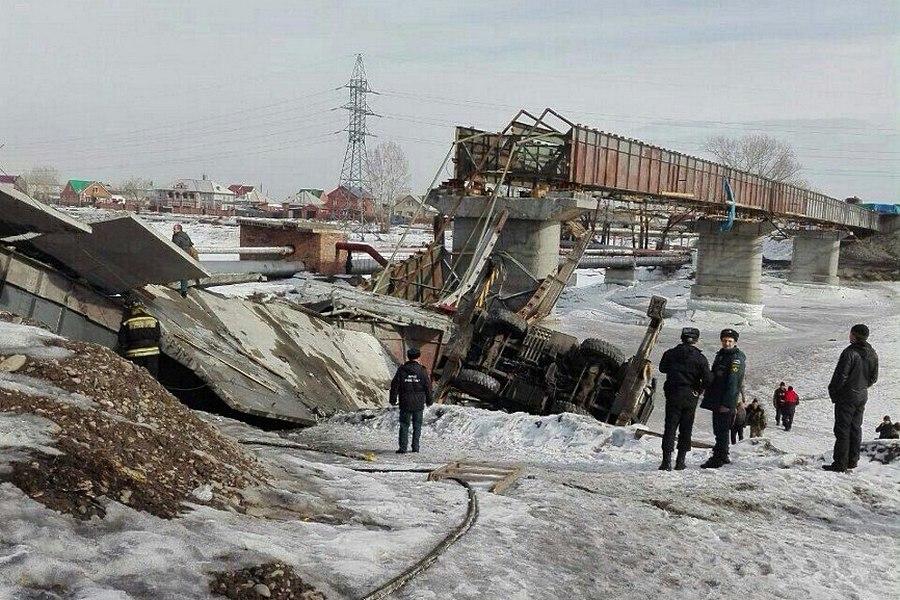 Названы виновники грандиозного падения моста вМинусинске