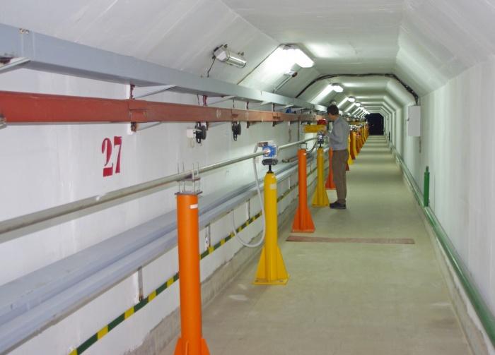 Каналы транспортировки инжекционного комплекса для проекта «Супер Чарм-Тау фабрика», фото предоставлено ИЯФ СО РАН