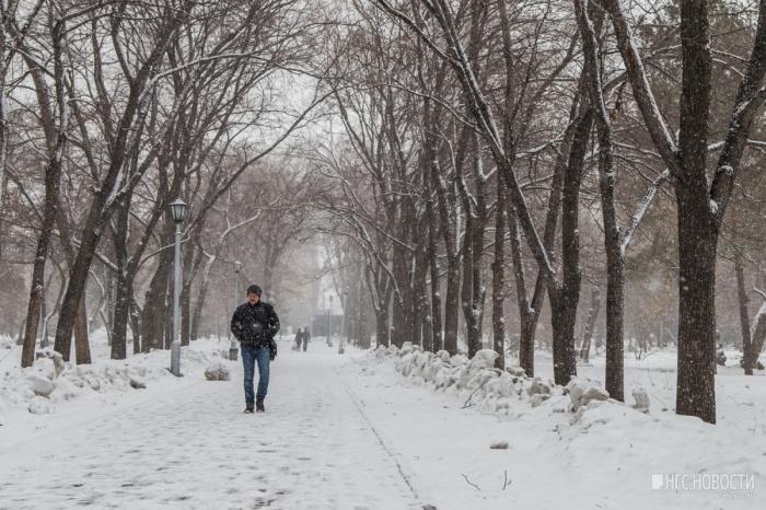 Вчера в Новосибирск вернулись снегопады