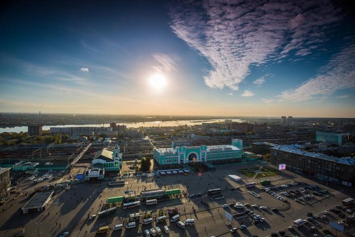 Новосибирск, вид на вокзал «Новосибирск-Главный»