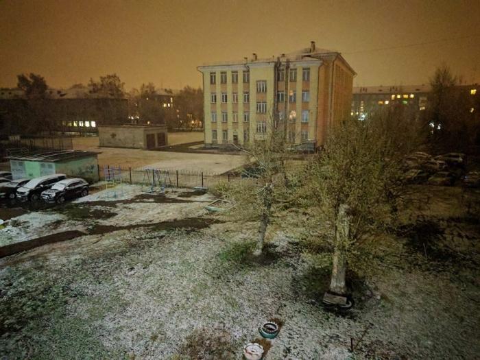 Майский снег в Новосибирске
