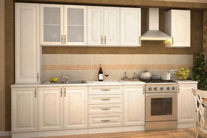 Еще одно экономичное предложение в светлых тонах.  «Виктория Сандал »  — очень «домашняя» стилизация кантри легко комбинируется с самими различными стилями. Поэтому жить с такой кухней становится невероятно легко!  33 206 руб.