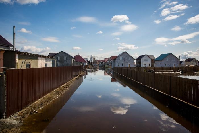 Поселок затопило очень быстро