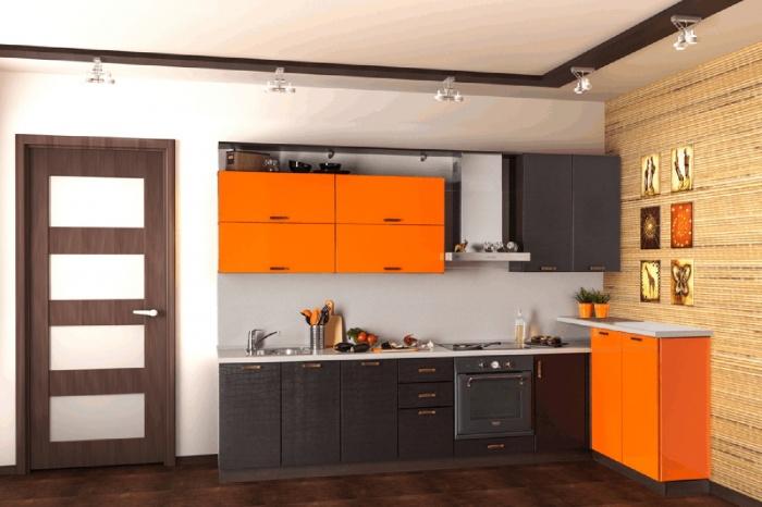 Для неудержимых экспериментаторов «Кухни-НСК» рекомендуют модель с говорящим названием « Экзотичная ». Пряный оранжевый цвет фасадов оттенка песков африканской пустыни дополняет «шоколадная» текстура, имитирующая кожу рептилий.  73 800 руб.