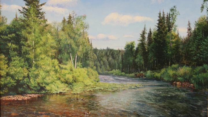 Красноярский художник с новосибирскими корнями впервые проводит выставку в столице Сибири