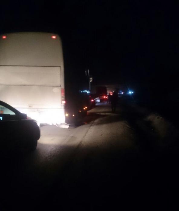 Пробка на Чуйском тракте из-за аварии