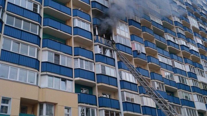 Пожар в 17-этажке в «Березовом»: спасатели эвакуировали ребенка
