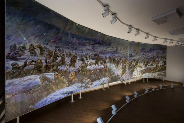 Диорама уже смонтирована в одном из шести новых выставочных залов в стоквартирном доме
