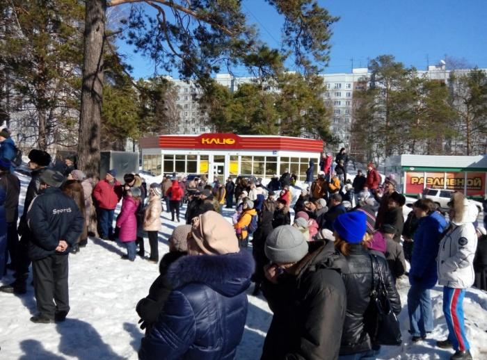 Митинг в Нижней Ельцовке 18 марта