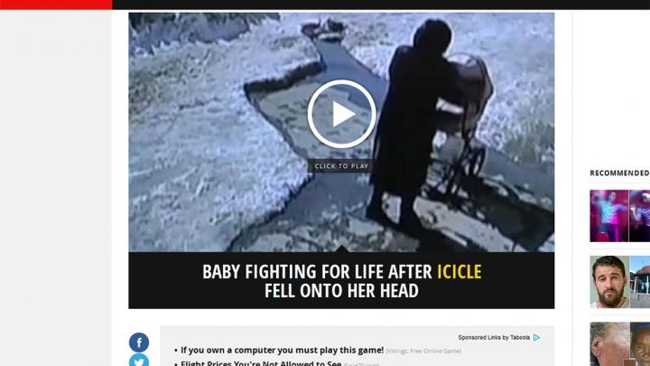 Случай с упавшим на младенца льдом попал в британскую прессу