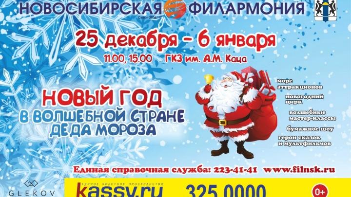 В концертном зале имени Каца пройдут новогодние представления для взрослых и детей
