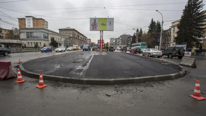 На важном участке Красного проспекта появилась разделительная полоса