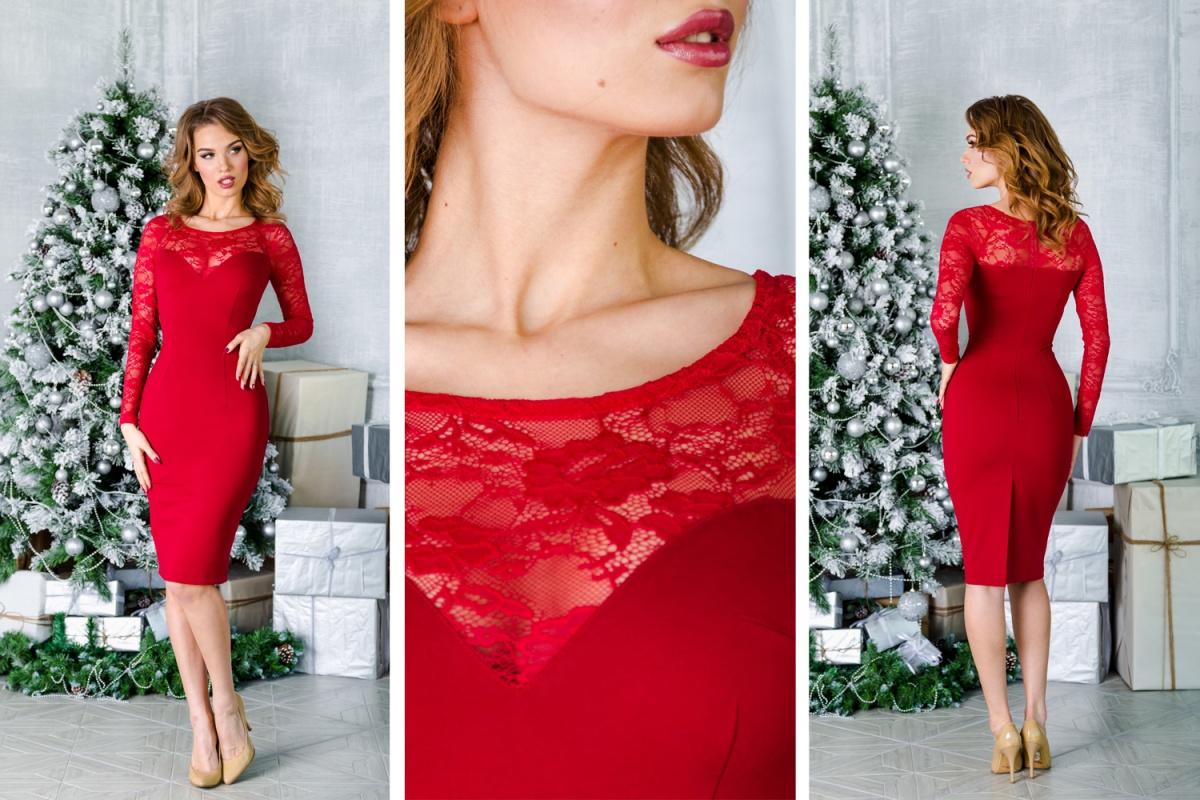 Красное силуэтное платье — пожалуй, самая популярная модель для встречи Нового года Огненного Петуха. Но именно это платье таит в себе одно замечательное свойство: благодаря бандажному трикотажу серии люкс оно обладает утягивающим эффектом. Вы такая тоненькая и сексуальная!  4500 руб.
