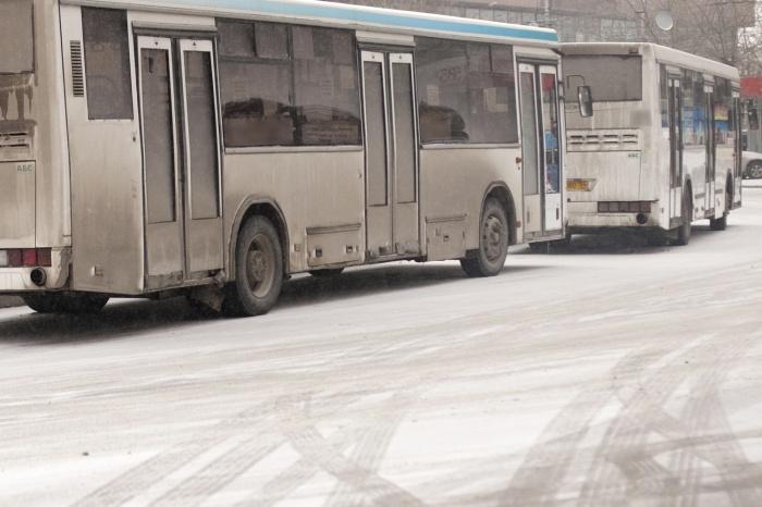 На остановке «Цирк» водитель автобуса  № 35  вышел из кабины и начал пинать переднюю дверь автобуса  № 79 , стучать по боковому стеклу кабины и громко ругаться