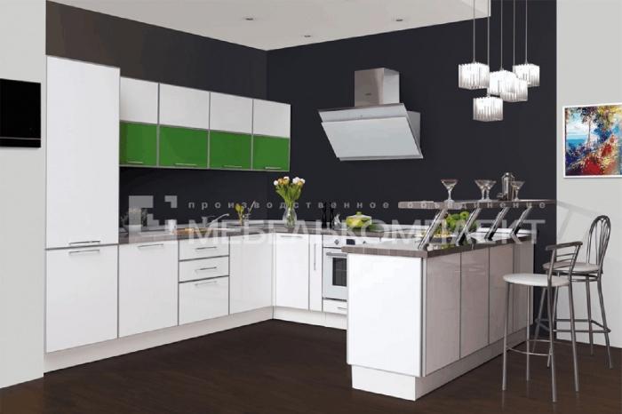 Совершенство сочетаний, линий и форм выглядит именно так. Кухонный гарнитур « Безупречная » нестандартной П-образной формы очень функционален и практичен.  224 800 руб.