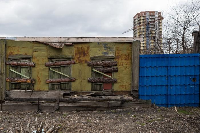 Частный сектор на ул. Зыряновской в Октябрьском районе