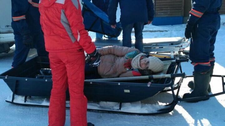 Прогулка возле Обского моря закончилась для лыжницы переломом бедра