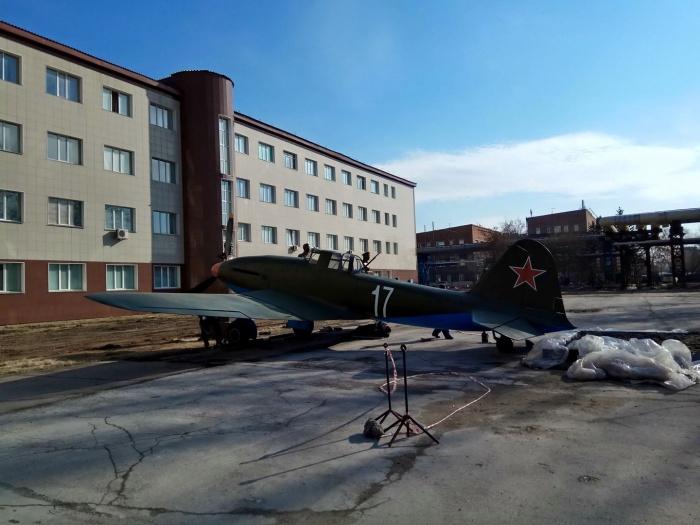 Сейчас ИЛ-10 полностью собран и стоит перед колледжем им. А.И. Покрышкина на ул. Станционная