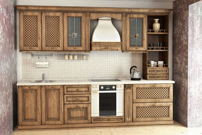 Каждый кухонный гарнитур комплектуется фурнитурой Hettiсh или Blum, надежными доводчиками и механизмами Senso, Aventos и других известных брендов. Это становится гарантией высокого качества и долгого срока службы.