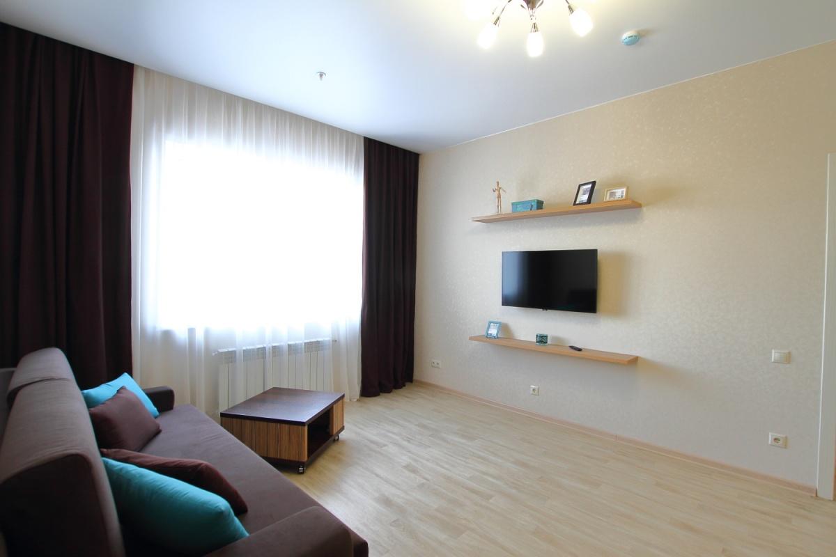 Однокомнатные апартаменты 43,3 квадратных метра. Стоимость покупки 3644 тысячи рублей
