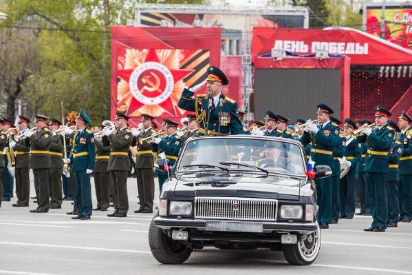 Военный парад на пл. Ленина
