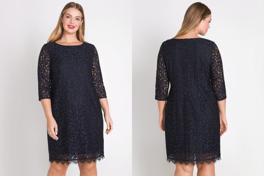 1d112330d9ca21c Элегантное платье-футляр для роскошных женщин: витиеватый и торжественный  узор кружева можно рассмотреть на