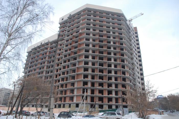 По данным ГК «Баутехник», сейчас комплекс из двух домов на ул. Тульская готов на 50 %