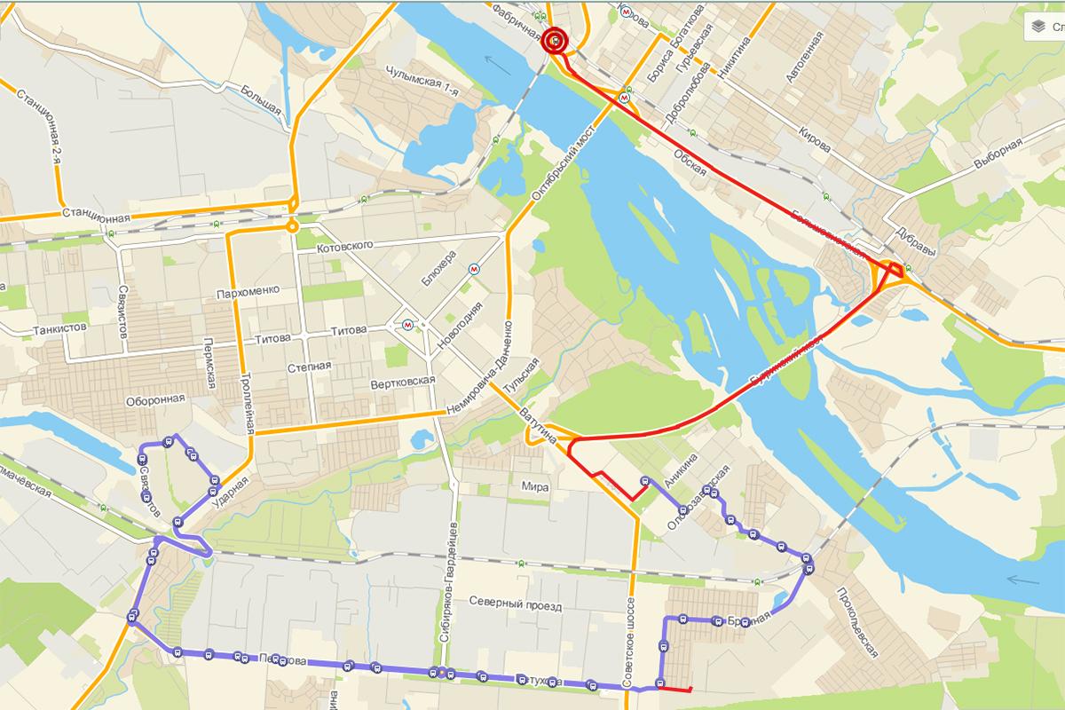 схема движения автобусов через золотой мост