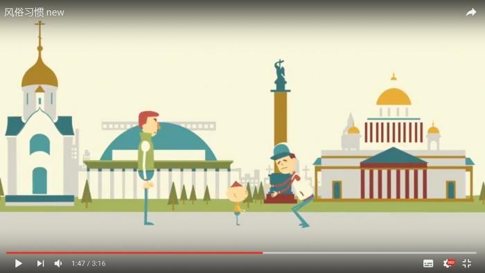 В одном из советов в качестве фона использованы слева направо новосибирские часовня Святого Николая, оперный театр, а также Александрийская колонна и Исаакиевский собор в Санкт-Петербурге