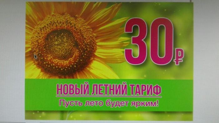 Перевозчик маршрутки  № 55  придумал девиз для нового тарифа: «Пусть лето будет жарким»